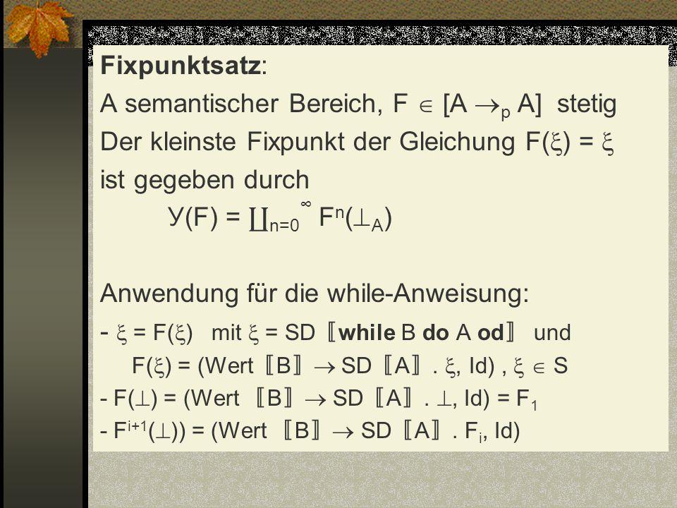 A semantischer Bereich, F  [A p A] stetig